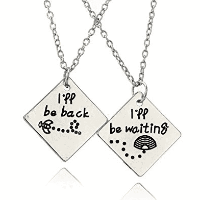 I'll be back necklace