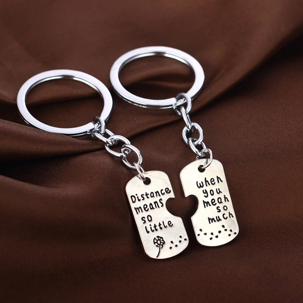 Distance Means so Little When You Mean So Much - LDR Keychain